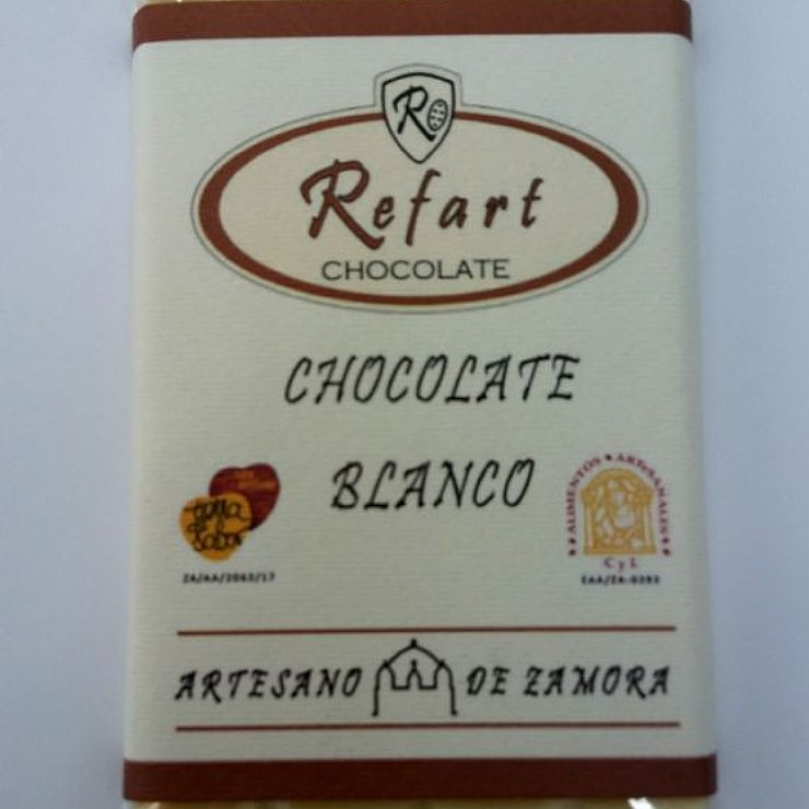 Tableta de chocolate blanco
