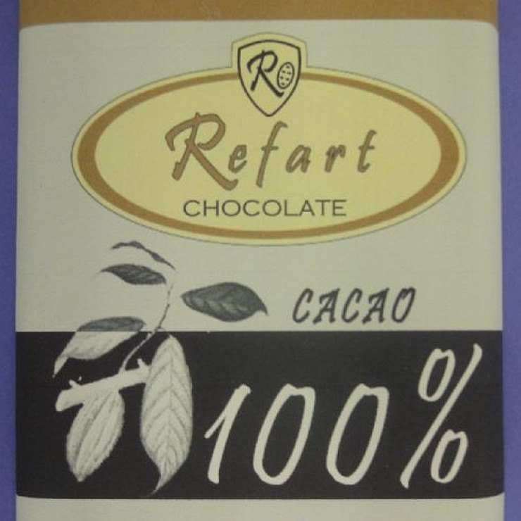 Lote de cinco tabletas cacao 100--